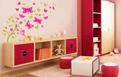 Vinyl Wall Art / Floral Butterflies for Girl Room, Girls Bedroom, Bedroom Decor, Bedroom Ideas, Bedrooms, Butterfly Tree, Butterflies, Wall Decor Stickers, Vinyl Wall Art