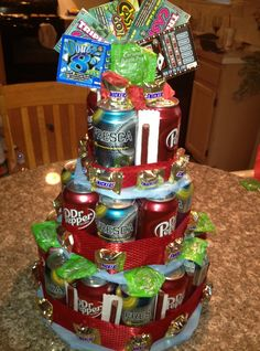 Not a link, but a great idea for Father's Day that I'm sure I can whip up on my own without instructions. I've already become a pro at diaper cakes :)