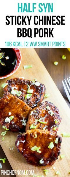 Half Syn Sticky Chinese BBQ Pork Pinch Of Nom Slimming World Recipes 106 kcal 05 Syn 2 Weight Watchers Smart Points Slimming World Pork Recipes, Slimming World Dinners, Slimming World Diet, Slimming Eats, Slimming World Sticky Chicken, Slimming Workd, Ww Recipes, Cooking Recipes, Recipies