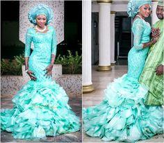 Vente En Gros Automne Turquoise Africaine Sirène Robes De Mariée Traditionnelles…