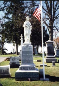 Jennie Wade- The only civilian to die during Gettysburg battle. One of 2 women in US history to have an American flag flown at her grave 24/7.