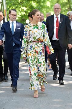 Crown Princess Victoria and Prince Daniel of Sweden during Sweden's National Day celebrations at Hagaparken (the Haga Park) on 6 June 2019 in Stockholm, Sweden.