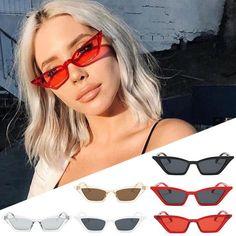 80a8e54d4f9 WOMEN VINTAGE CAT EYE SUNGLASSES RETRO SMALL FRAME UV400 EYEWEAR FASHION  LADIES Cool Sunglasses