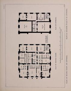 Le Petit Trianon, plan of the upper floor and mezzanine.