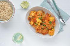 Easy: Indiase curry Healthy Diners, Garam Masala, A Food, Cauliflower, Paleo, Fresh, Dinner, Vegetables, Easy