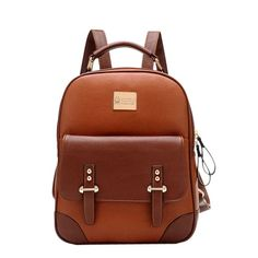 How nice New British Style Retro  Leather Backpack ! I like it ! I want to get it ASAP!