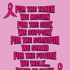 Relay For Life- NO ONE deserves to have Cancer. Let's find a cure. Breast Cancer Quotes, Breast Cancer Shirts, Breast Cancer Walk, Breast Cancer Support, Breast Cancer Survivor, Breast Cancer Awareness, Race For Life, Relay For Life, I Hate Cancer