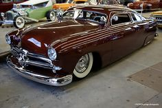 Chocolate & chopped 1950 Ford shoebox...Re-pin...Brought to you by #CarInsurance at #HouseofInsurance in Eugene, Oregon