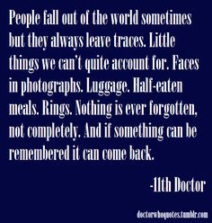 Doctor Who Quotes : Not just for breakfast......