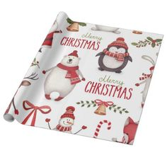 Shop Christmas Wrapping Paper created by TeterCreek. Personalize it with photos & text or purchase as is! Wrapping Ideas, Unique Wrapping Paper, Wrapping Paper Design, Gift Wrapping Supplies, Wrapping Papers, Merry Christmas, Christmas Themes, Christmas Print, Christmas Holiday