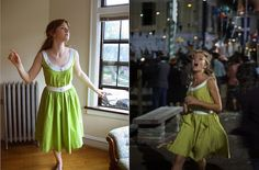 Gracefullady made Hayley Mills' green dress from Moon-Spinners. How fun!