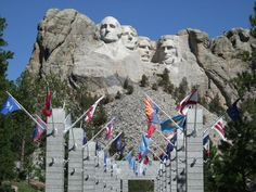 Mt. Rushmore National Memorial, So. Dakota - on a road trip with my mother and sister!