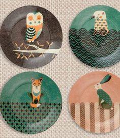 woodland plates festive