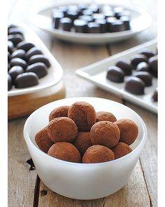 Chocolate truffles, recipe here