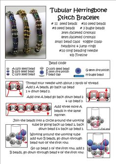 * Bead Mavens: Tubular Herringbone with Bugles #seed #bead #tutorial #bracelet