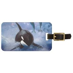 Shop Dreamy Whale and dolphins Luggage Tag created by laureenr.