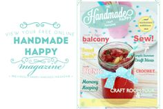 Handmade Happy Mag ad New Free Online Craft Magazine for Summer