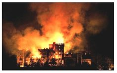 castle on fire - Google Search