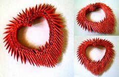 Popular DIY Crafts Blog: How to Make 3D Origami Heart