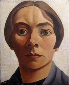 Mabel Alvarez, Pintora. Autoretrato,1923