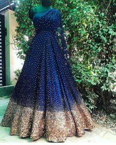 Blue bridal indowesten gown anarkali - - Source by Wedding Reception Gowns, Indian Wedding Gowns, Indian Gowns Dresses, Indian Bridal Outfits, Indian Fashion Dresses, Dress Indian Style, Indian Designer Outfits, Indian Reception Outfit, Pakistani Dresses