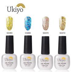 Ukiyo 4pcs Glitter Nail Polish Soak off UV/LED Gel Nail Salon Sets * Check out this great product.