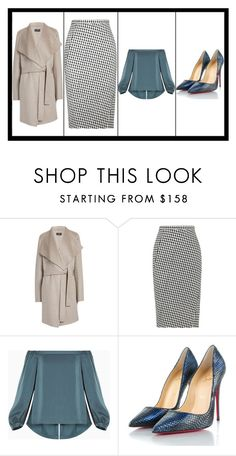 """""""Untitled #299"""" by marytomary on Polyvore featuring Joseph, Altuzarra, BCBGMAXAZRIA and Christian Louboutin"""