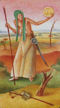 Knave of Pentacles - Bosch Tarot