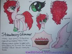 Commission: Strawberry Glimmer ref sheet by EmR0304