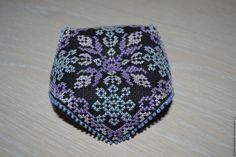 Купить Игольница-бискорню - комбинированный, Вышивка крестом, игольница, Бискорню, подарок, сиреневый, голубой