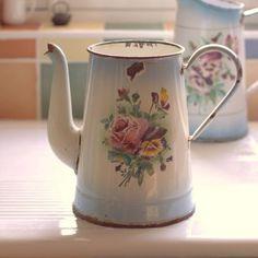 Vintage metal tea pot