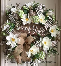 Door wreaths diy baby deco mesh 70 new Ideas Fall Mesh Wreaths, Deco Mesh Wreaths, Holiday Wreaths, Spring Wreaths, Ribbon Wreaths, Floral Wreaths, Winter Wreaths, Diy Wreath, Burlap Wreath