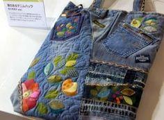 Risultati immagini per borse riciclo jeans