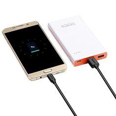 nice Lumsing® Cable Micro USB a USB 2.0 (91cm/3ft), Cable de datos Micro, Cable más rápido y duradero, Sincroniza y Carga para Samsung Galaxy, Huawei, Xiaomi, Nexus, LG, Motorola, Android Smartphones y muchos más (Negro)