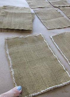 Kier here! Crafting with Burlap! These are some cool ideas!