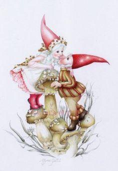 fairies gnomes and mushrooms clip art | gnomes fantasy fairy faery faeries fairies fae mushrooms love Gnome ...
