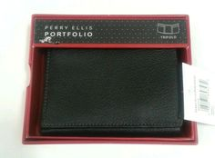 Perry Ellis wallet Pebble Trifold In Original Box #PerryEllis #Trifold