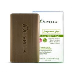 Olivella's Fragrance Free Bar Soap is filled with antioxidants and anti-aging properties found in 100% virgin olive oil. Buy it for only $2.79