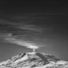 Erebus - Son of Chaos - Mt Erebus, Ross Island Antarctica, the southern most active volcano on Earth. Photography by  Joel Bensing