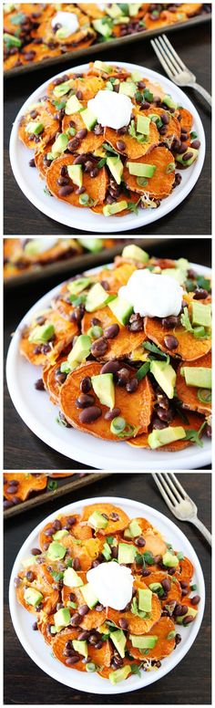Loaded Sweet Potato Nachos Recipe on twopeasandtheirpod.com My all-time favorite nachos!