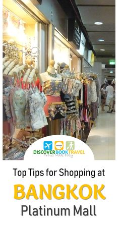 Top tips for shopping at Platinum Fashion Mall, Bangkok. Tips on bargaining to get the cheapest prices, and how to maximize your time at Platinum Mall. Thailand Shopping, Thailand Travel, Asia Travel, Travel Tips, Travel Ideas, Travel Advise, Travel Destinations, Packing For A Cruise, Shopping Places