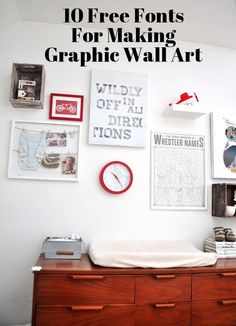 10 Free Fonts for Making Your Own Graphic Wall Art | Apartment Therapy