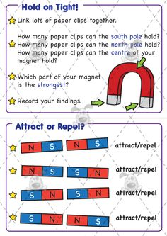 Teacher's Pet - Magnet Challenge Cards - Premium Printable Classroom Activities and Games - EYFS, KS1, KS2, challenge cards, magnets, springs, forces, magnetism, compass, poles, attract, repel, investigation