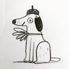 "좋아요 817개, 댓글 6개 - Instagram의 Linzie Hunter(@linziehunter)님: ""Dog. Possibly French. #dogs #dogsofinsta #doodle #sketch #illustration #linziedraws """