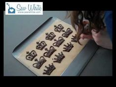 Making Chocolate Crowns Cake Toppers Sew White Chocolate crowns cake video
