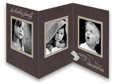 Holiday Greetings Tri-Fold - Photo Christmas Cards from CardsDirect
