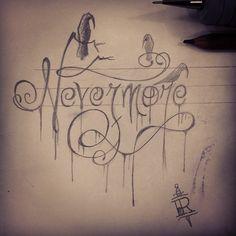 Nevermore.   #poe #edgar #nevermore