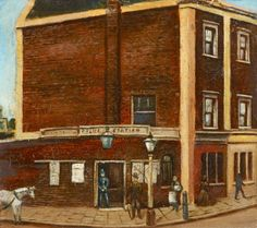 Oil painting on a near-square canvas depicting a local, topographical scene of the Old Police Station, Camberwell Green. Police Box, Police Station, Square Canvas, Green Art, Art Uk, Water Crafts, Your Paintings, Old Things