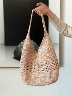 Knitted Bags, Straw Bag, Crocheting, Tote Bag, Knitting, Fashion, Handmade Crafts, Handbag Patterns, Bags