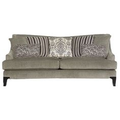 S2241/MLKCHARCOAL/SO Contemporary Traditional Charcoal Grey Sofa - Monty
